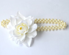 TIARA/HEADBAND BABY WHITE FLOWER