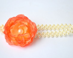 TIARA/HEADBAND BABY ORANGE FLOWER