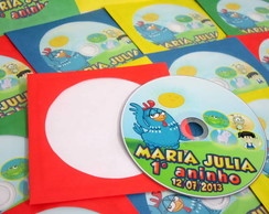 20 CD's ou DVD's com envelope Colorido!