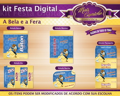 Kit Festa Digital A Bela e a Fera