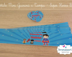 Rótulo Mini Guaraná - SUPER HERÓIS BABY
