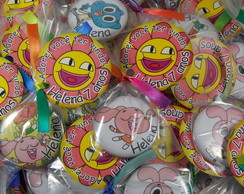 Buttons 45mm embalados com tag