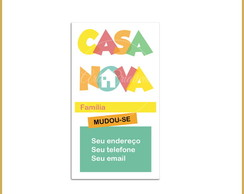 Moving Card - Casa Nova