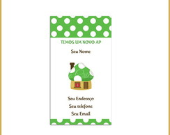 Moving Card - Casinha Cogumelo Verde