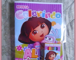 kit colorir Dora Aventureira