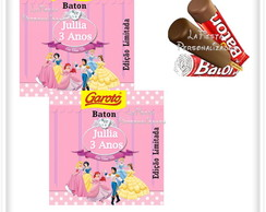 Rotulo Chocolate Baton As Princesas