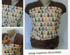 Wrap sling marrom chocolate - gatos