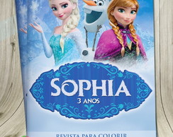 Revista colorir Frozen