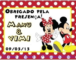 TAG personalizada / Mickey e Minnie