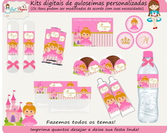 Kit de guloseimas Princesas digital