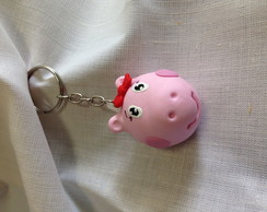 Chaveiro Biscuit Peppa ou George Pig