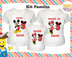 Kit 3 camisetas Minnie