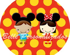 Arte digital Minnie e Mickey