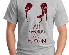 CAMISETA MASCULINA-HORROR STORY-MONSTER