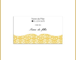 Mommy Card - Arabesco Amarelo