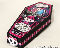 Convite Caixão Monster High Simple