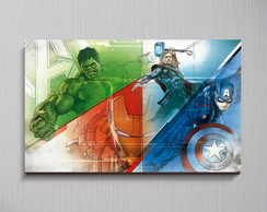 Quadro Avengers Abstract - 44x30 cm