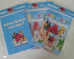Kit de colorir Angry Birds