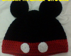 Touca de crochê Mickey Mouse