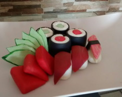 Prato de sushi (fake food)