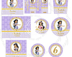 Kit festa digital princesa Jasmine