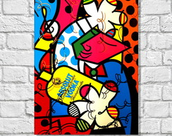 Placa Decorativa POP ART - VODKA
