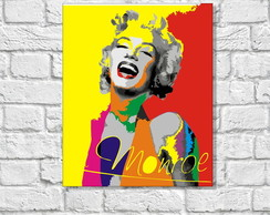 Placa Decorativa POP ART - MARILYN