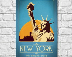 Placa Decorativa Cidades - NEW YORK