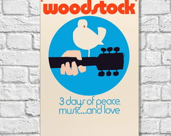 Placa Decorativa Woodstock