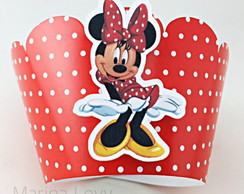 Wrapper Cupcake 3D - Minnie Verm.