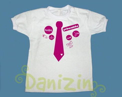 T-Shirt Bb e Infantil GRAVATINHA FASHION