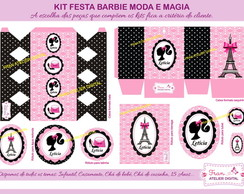 Kit Digital Festa Barbie Moda e Magia