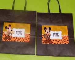 Sacolinhas Mickey e Minnie Safari