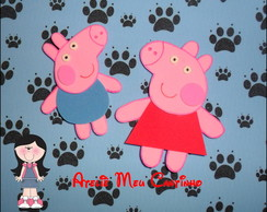 Dedoches Peppa e George Pig