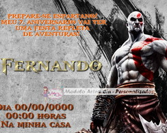Convite God Of War - Kratos