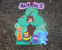 Placa de porta animais maternal