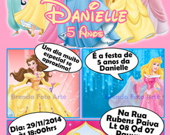 Convite Digital Gibi Princesas Disney