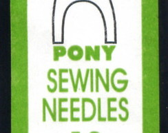 Agulhas Pony Sewing Sharps Curtas #12