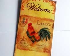Placa Decorativa Welcome Friends