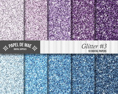Kit Papel Digital Glitter 3