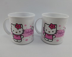 Caneca Plastica Hello Kitty