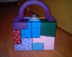 "Maletinha Decorada ""Patchwork"""