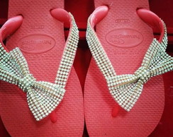 Havaianas customizada manta de strass133