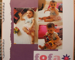 Todas as páginas decoradas Álbum scrap G