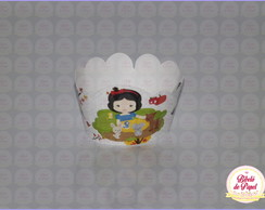 Mini Wrapper de Cupcake: Branca de Neve.