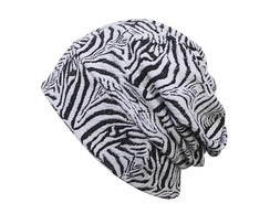 Touca Beanie black and white