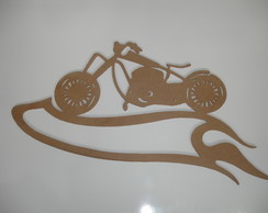"Perfil Moto Custon Fire MDF ""6mm 70x34"""