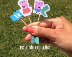 Toppers para doces Peppa Pig