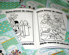revista colorir disney baby