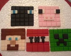 Toppers em pasta americana Minecraft